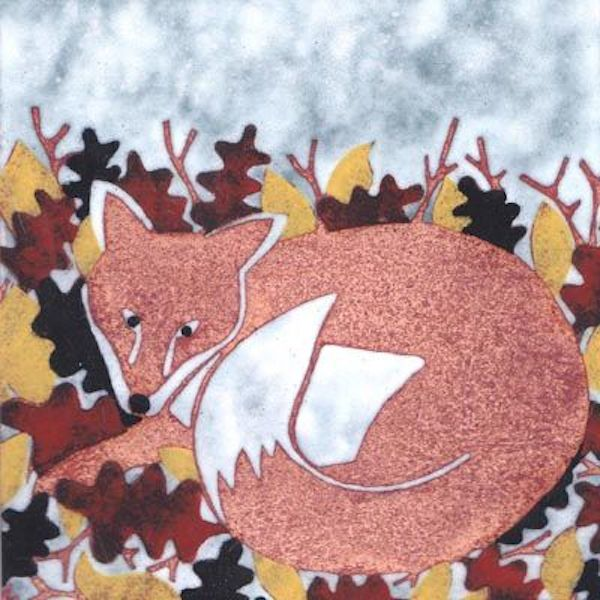 Mr Fox in the Leaves