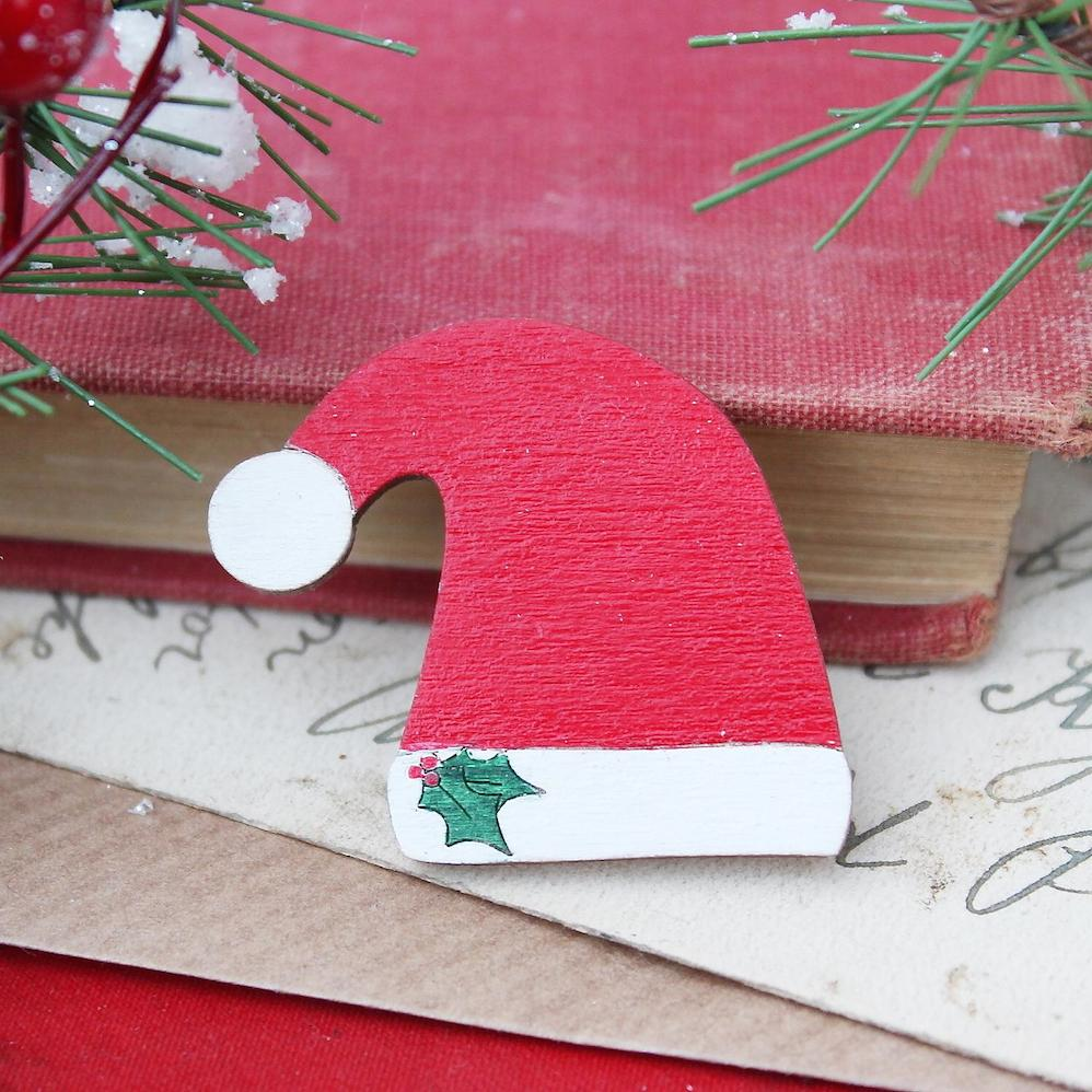 Santa Hat Brooch