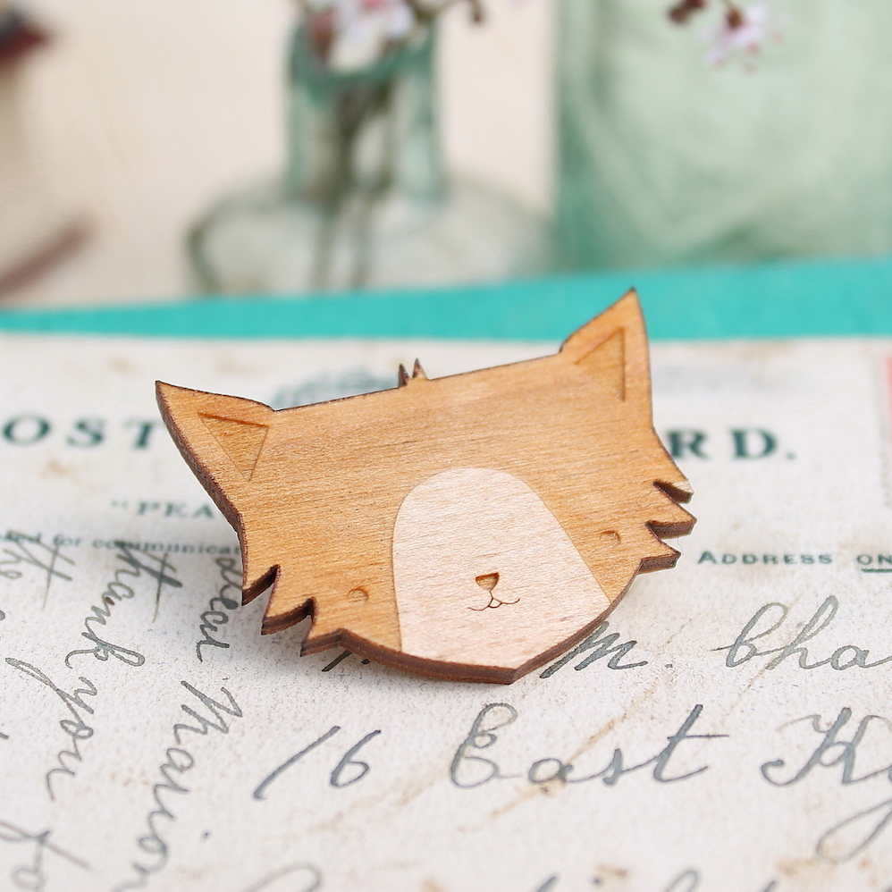 Cat Brooch