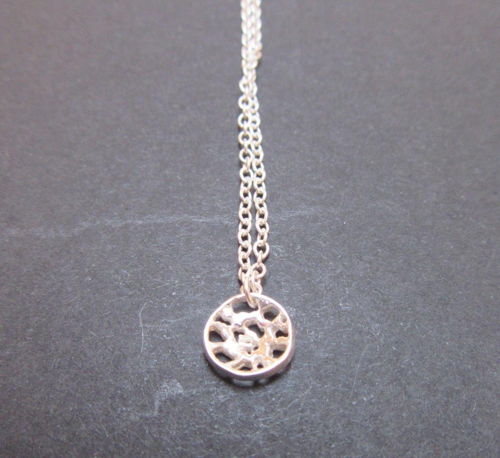 Small Silver Lace Pendant