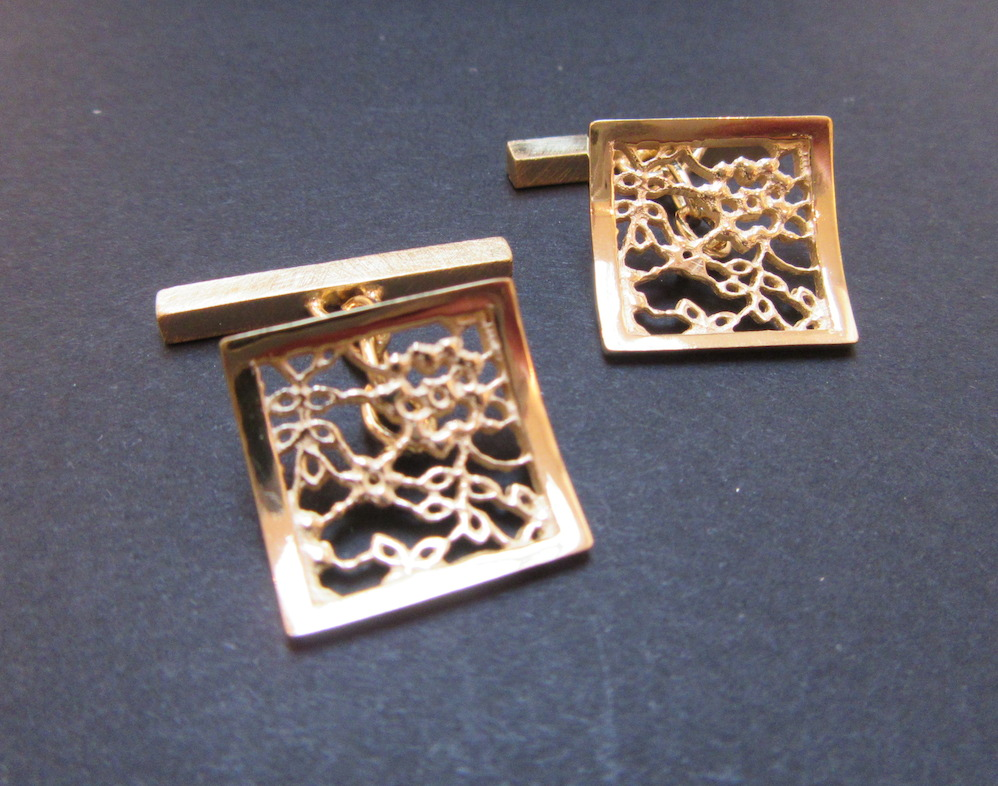 Gold Lace Cufflinks