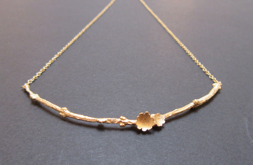Gold Briar Branch Necklace