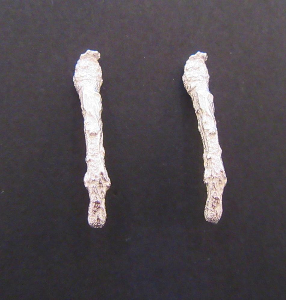 Silver Briar Branch Earrings