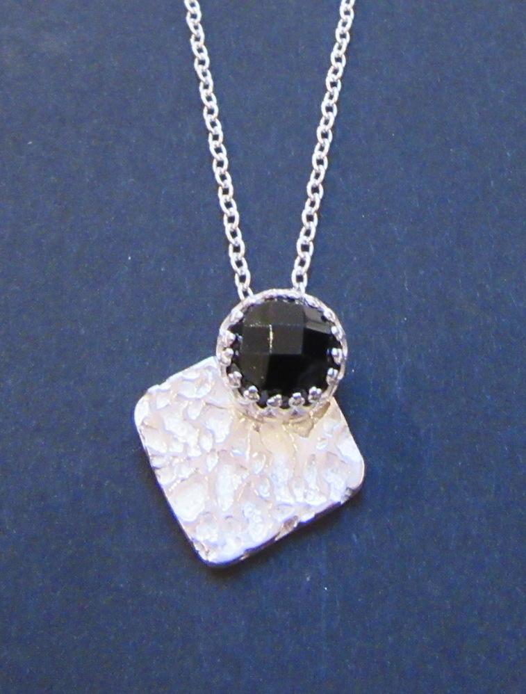 Silver & Onyx Pendant