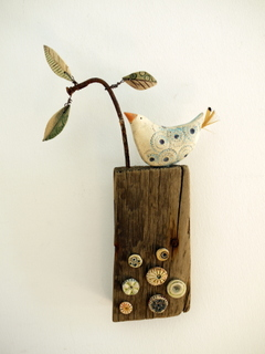 Ceramic and mixed media