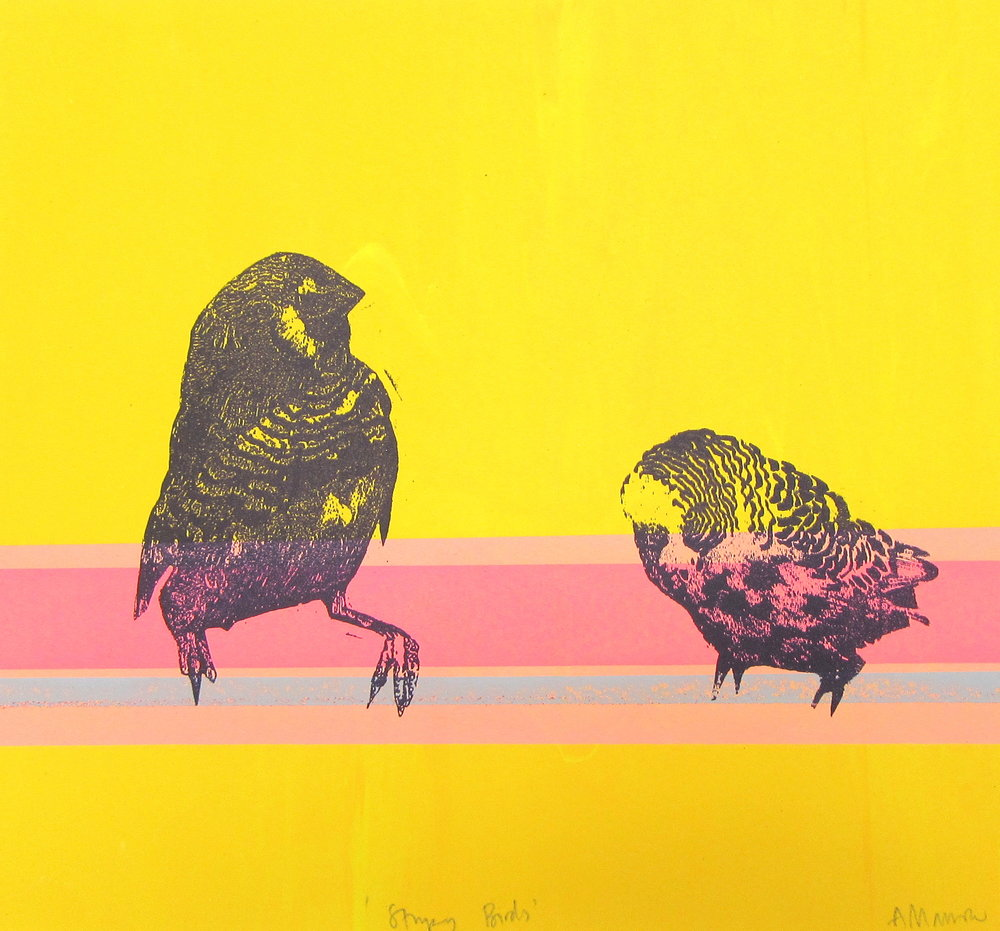 Stripy Birds, Anna Marrow