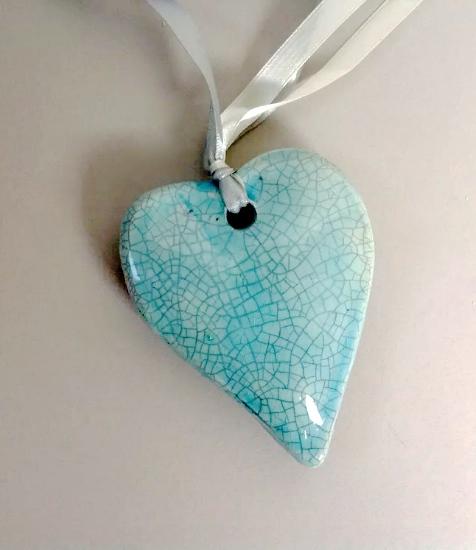 Hanging Green Heart