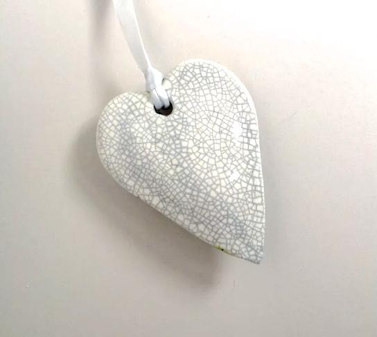 Hanging White Heart