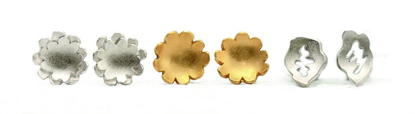 Natalie Salisbury | Silver and gold plated studs | from £48