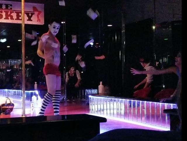 Ya, we strip too! • • • #20Penny #20Pennycircus #sideshow #circus #swordswallower #comedy #contemporaryclowns #questionabletaste #clownsighting #Clowning #Clown #varietyperformer #varietyact #Thewhiskey #stpete #HumanPincusion