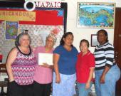 Patricia Rebolledo, Flor Eugenia, Johany, Xiomara and Chanita