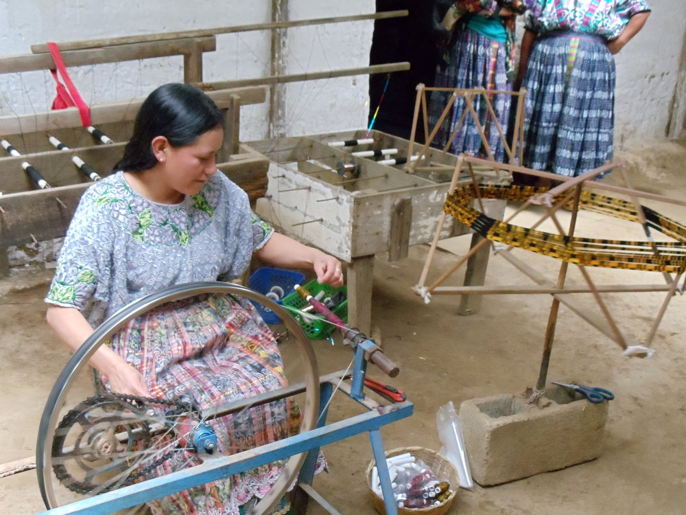 Donor dollars support innovative projects, like textile workshops, that help communities deal with challenges they face.