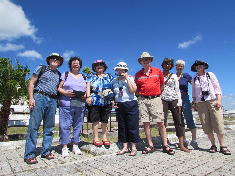 The 2017 Guatemala Delegation next to Lake Peten Itza, Guatemala.
