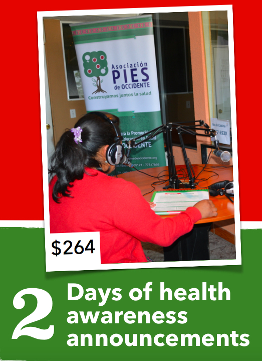 Your donation today can help support the MNCH project's Health Awareness Raising Campaign that provides messages to the public via radio on maternal and child health. These messages include information on: pregnancy, birth and postnatal care, breastfeeding and the care of infants, cervical and breast cancer, and many more. These radio messages are broadcast in both Spanish and Maya K'iche languages in order to reach the whole population of Totonicapán, which includes a large number of members who only speak their Indigenous Maya language.