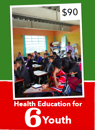 Previously unavailable, health education is changing lives in classrooms across Totonicapán, Guatemala. These health classes will provide a look at health topics including self-esteem and respect for oneself, physical and emotional development during puberty, understanding gender and gender equality and many more themes.