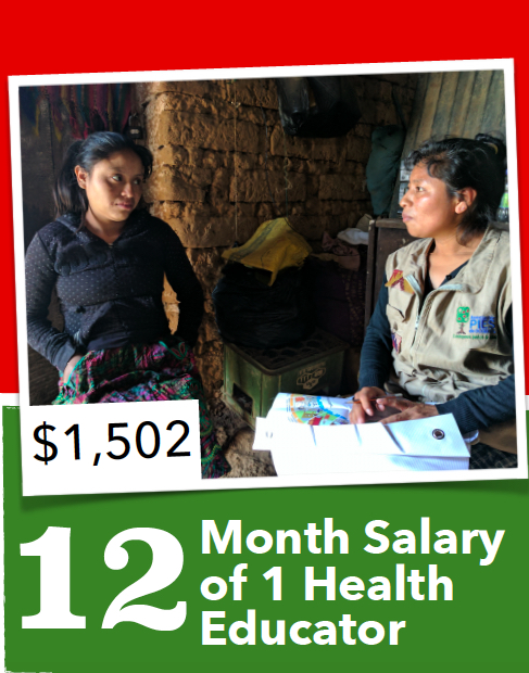 Your donation will help provide the one year salary for a Health Educator with the Maternal, Newborn and Child Health Project. These Health Educators travel to remote and rural Indigenous communities to teach and provide resources on maternal and child health. In the first 18-months of the project they have visited over 9,000 women and their families!
