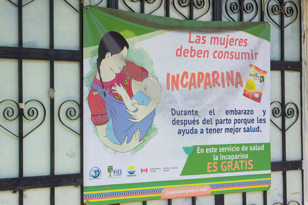An Incaparina advertisement at Totonicapán's Patachaj Health Post.