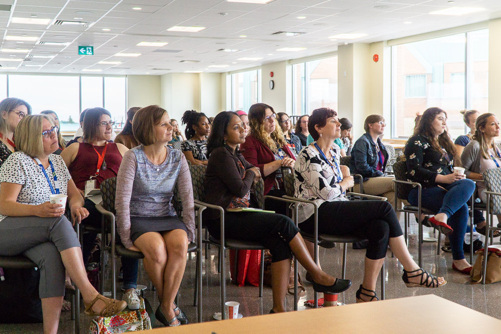 Markham Stouffville Hospital  health professionals were captivated by the Guatemalan duo's presentation.