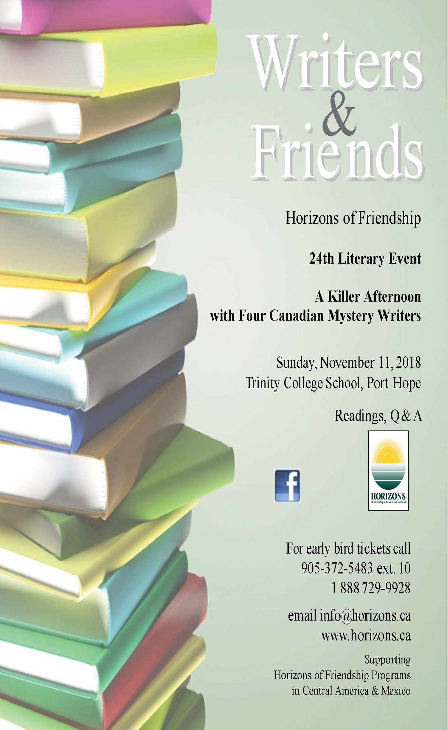 Writers & Friends Literary Afternoon in Cobourg — Horizons