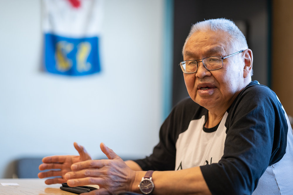 Inuit Elder Johnny Ayaruaq shared the history of Rankin Inlet, Nunavut.