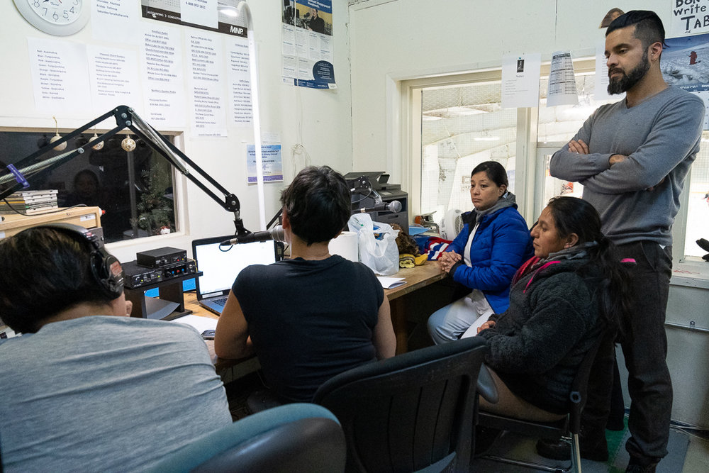 The group was also invited to lead a radio program on the community radio station (94.7FM) in Rankin Inlet. During the 2-hour program, with translation from Spanish-to-English-to-Inuktitut, María del Rosario, Margarita, René and Horizons Community Outreach Officer Daniel Quesada talked about the MNCH project and Horizons' international development initiatives in Central America and Mexico. Folks called in to share a few questions and comments on MNCH!