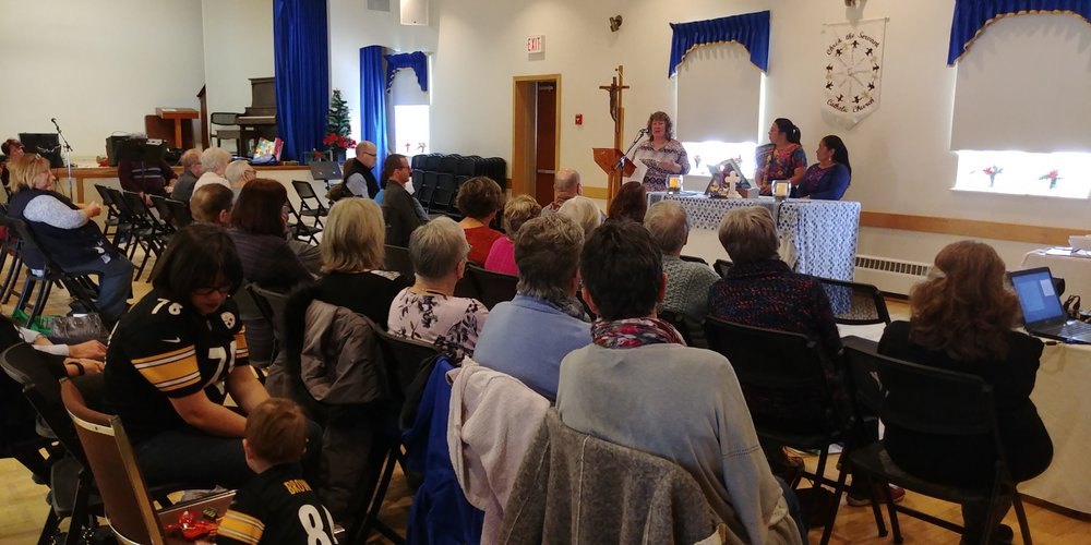 Mirna and Irma delivered a public presentation at Christ the Servant Church in the village of Cold Springs within Hamilton Township, Ontario. The congregation in this small, rural community has supported the MNCH project since its launch in 2016.