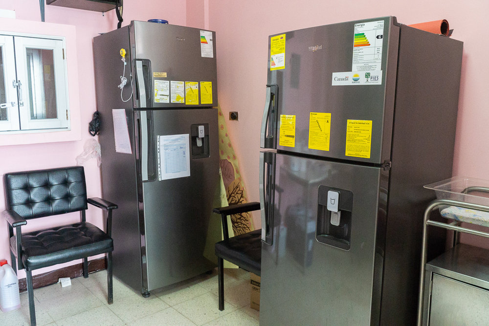 Fridges and refrigerators donated to the Human Breast Milk Bank through the MNCH project.