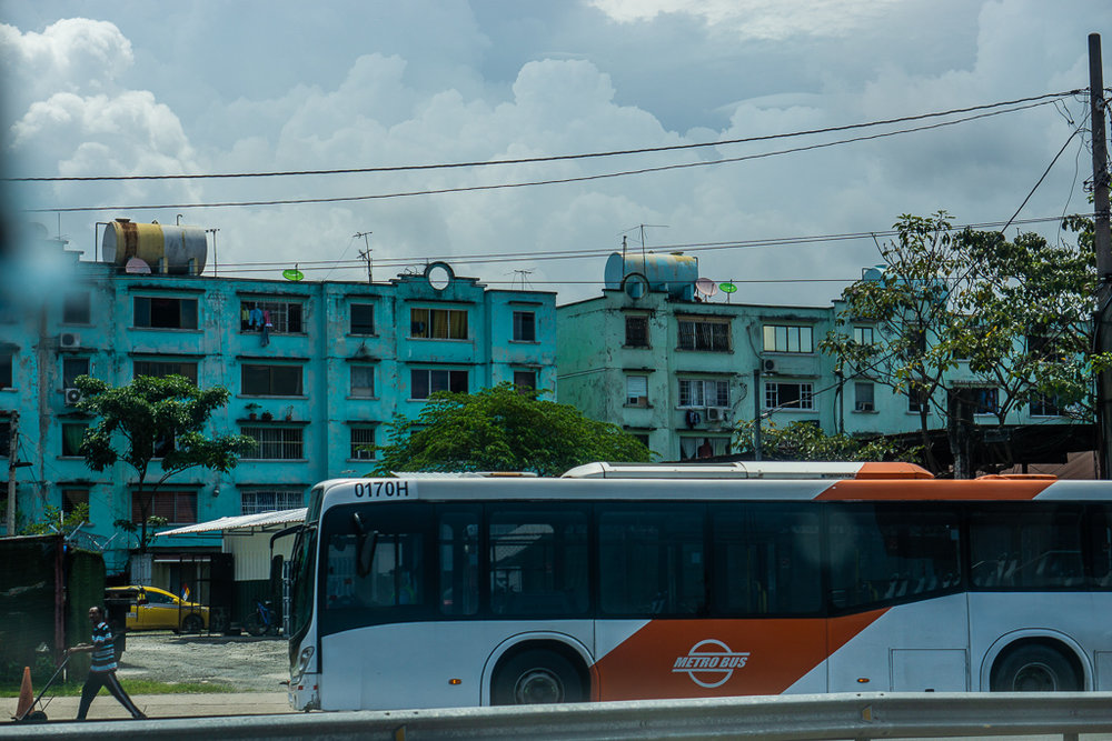 Apartments in a low-income neighborhood in Panama City, Panama.
