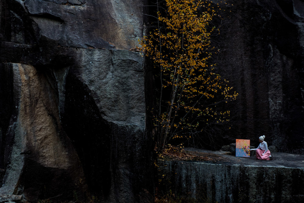 You never know where paintings takes you. PHOTO by Joe Klementovich (brother and NY Times photographer)