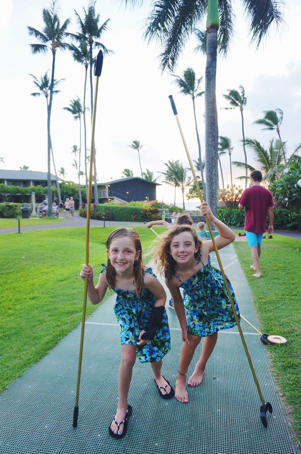 girls matching dresses shuffleboard maui