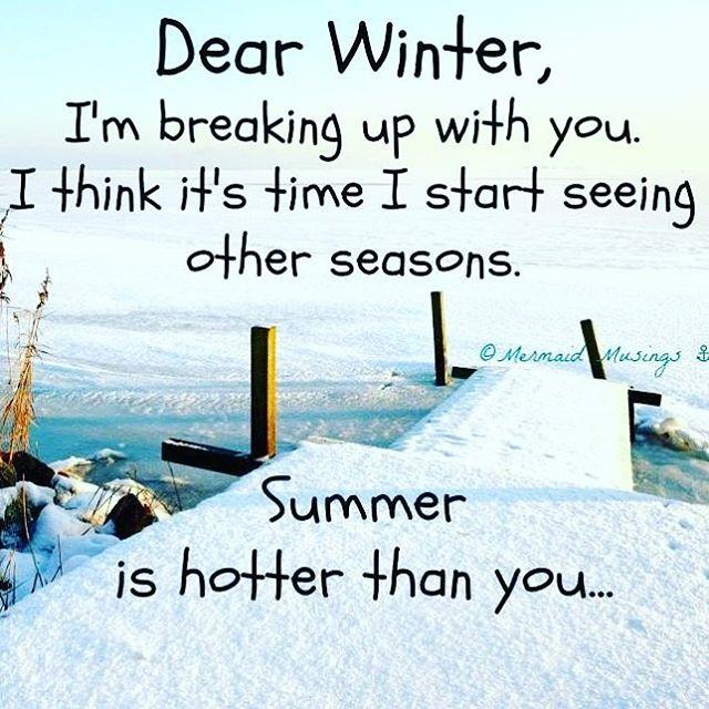 Is it summer yet?? ❄️ #brrr