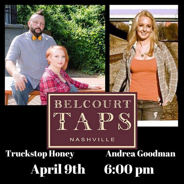 Tomorrow night! Join us and @kyandreagoodman at @belcourttaps in #nashville 6 PM
