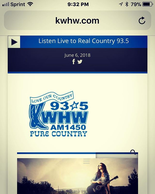 We're excited to be live on the air with KWHW tomorrow morning at 9:00 AM! They'll be playing our new single! Listen in online at kwhw.com 😎 #truckstophoney #newsingle