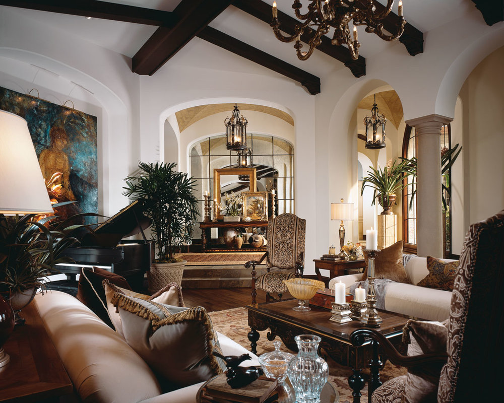Like most of the home, the decor is Tuscan and Mediterranean meet Santa Barbara.