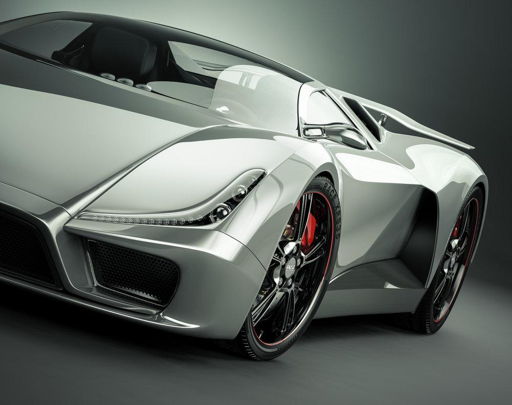 grey-sports-car