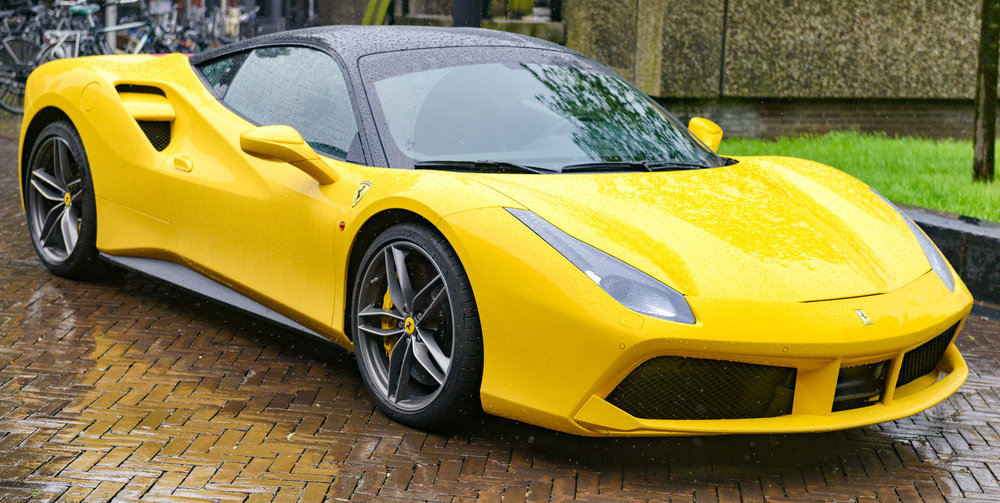 The Ferrari 488 is one of our many stylish selections.