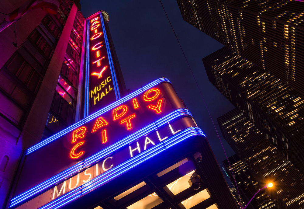 Radio City Music Hall - Many say there is no place like it to see an entertainment event