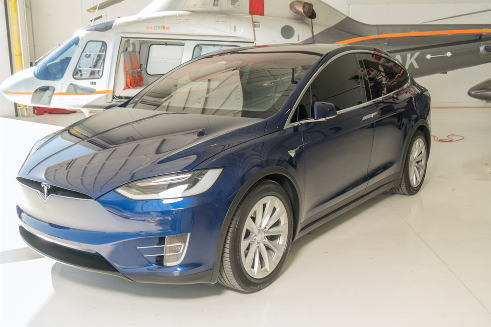 The Model X is a full-blown Sports Utility Vehicle.