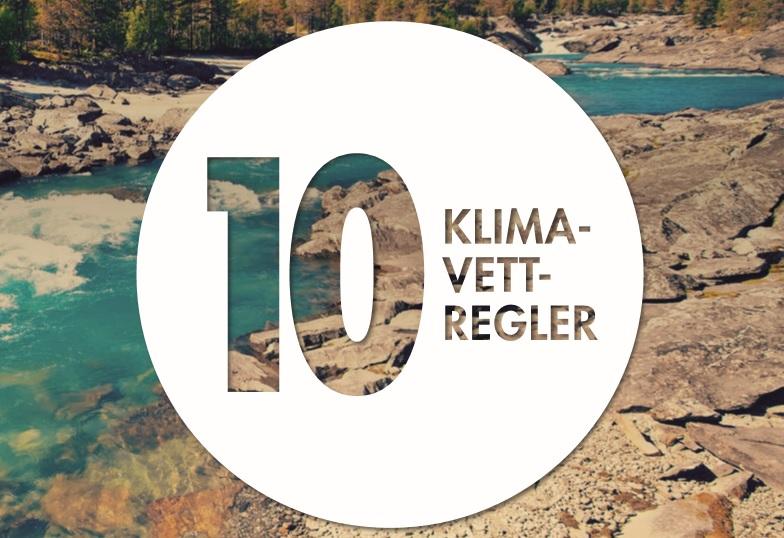 10 KLIMAVETT-REGLER -