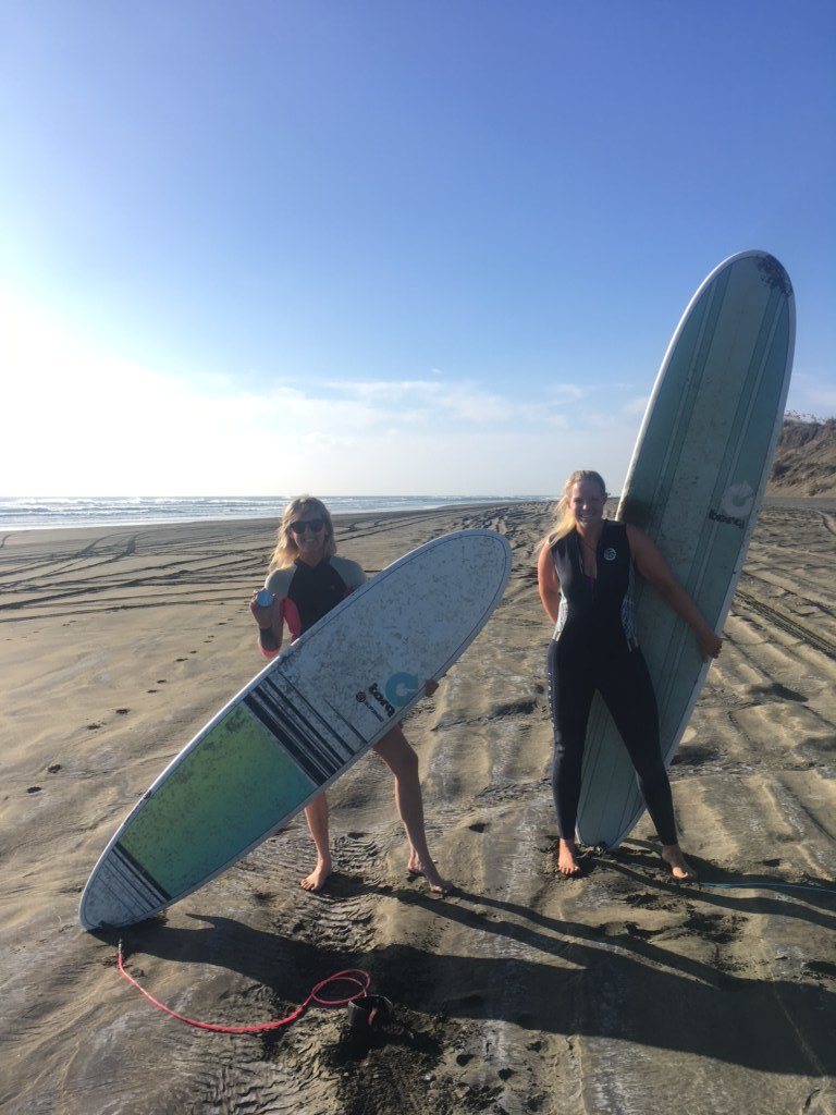 There's nothing better than surfing with your bestie!