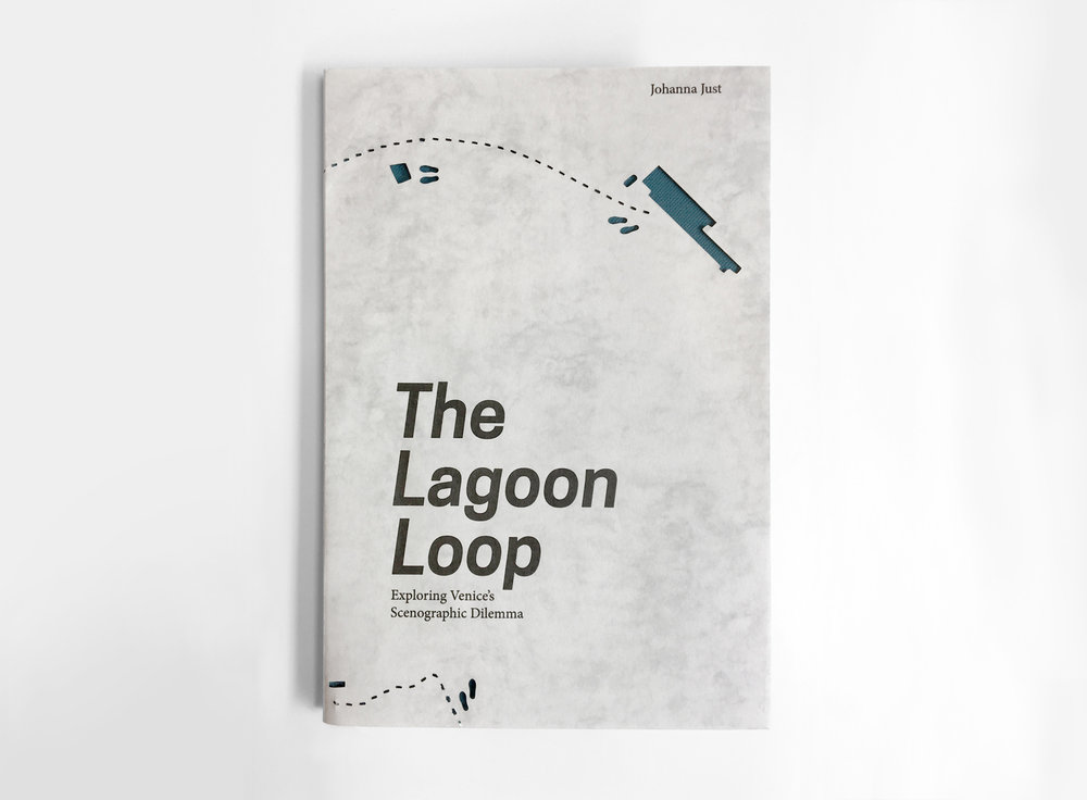 The Lagoon Loop - Exploring Venice's Scenographic Dilemma, Thesis Tutor:Stelios Giamarelos 'The Lagoon-Loop', a play sited in Venice,follows the main characters Marco and Lorenzo on their round-trip through the city. Starting at the train station the two friends make their way to a screening of Groundhog Day close to San Marco. In the back of a watertaxi, they start a discussion about Venice's scenographic character.Passing Piazza San Marco, the scenic and recursive traditions of the Venetians and their rulers become apparent;St. Mark's Basilica is revealing the city's strategies of demonstrating power using associations. Slowed down by the tourist masses, the protagonists encounter the main conflict: Venice is stuck in a feedback-loop without future perspectives. How can it be broken?After the screening of Groundhog Day,Marco and Lorenzo soon discover the parallels between Venice's and Phil's situation in the movie. What can the city learn from Phil's escape of the loop?