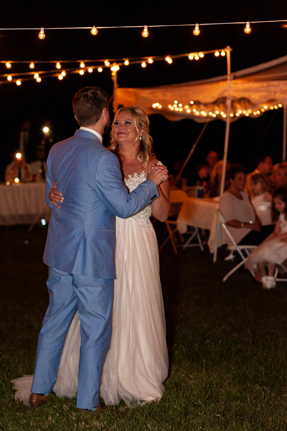 The couple then moved onto their first dance and father-daughter/mother-son dances