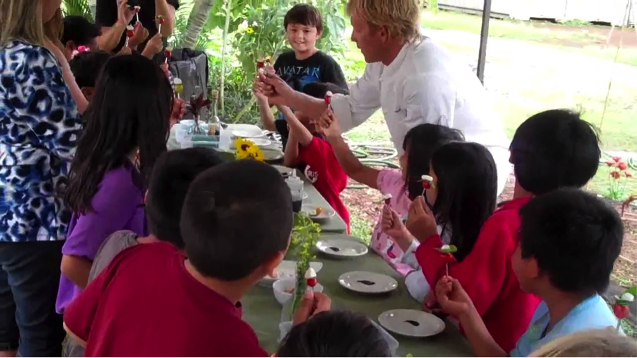 Students Learning from Local Chef