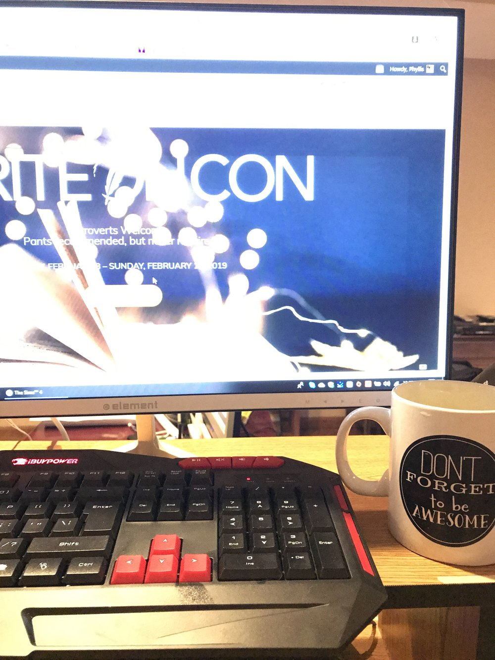 Coffee and a Con - It was fun to attend WriteOnCon in my pajamas