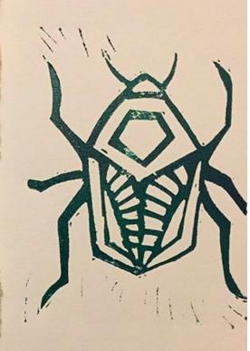 beetle - 2018, Linocut