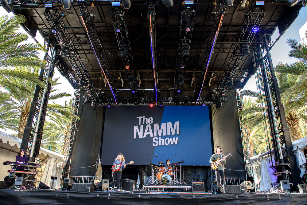 WE WERE EXTREMELY HONORED TO HAVE BEEN SELECTED TO PLAY THE MAIN STAGE AT THE NAMM SHOW THIS PAST JANUARY AND WOULD LIKE TO SINCERELY THANK EVERYONE FOR THEIR CONTINUED SUPPORT!