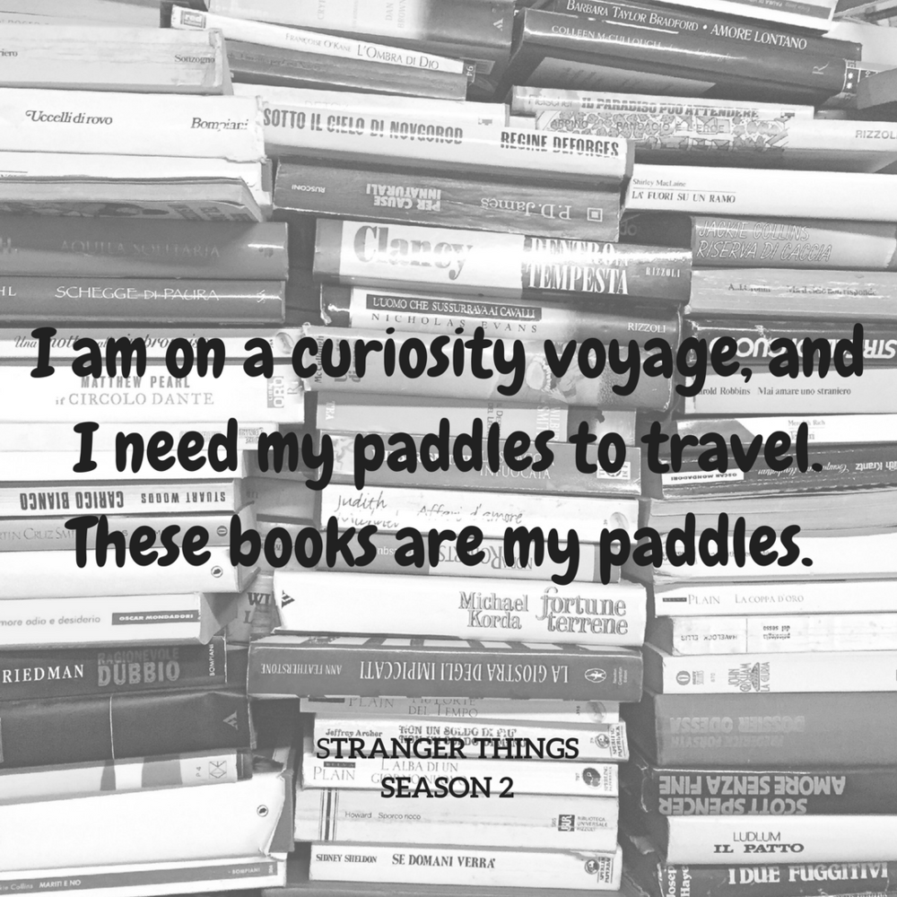 I am on a curiosity voyage, and I need my paddles to travel. These books are my paddles..png