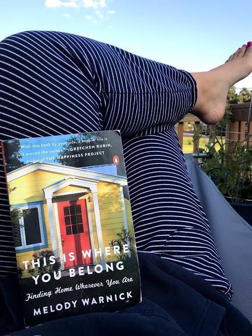 Outside in a sweatshirt lying in my hammock...It really is where I belong!