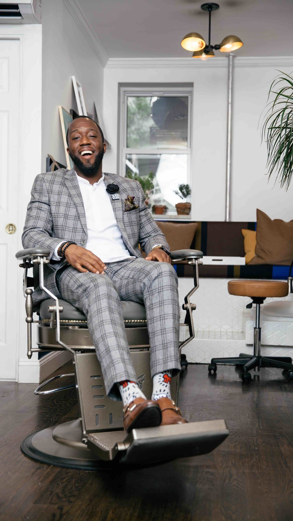 Striver & Visual Artist Ronald Draper  at  Classic Man Barber Lounge  in the East Village