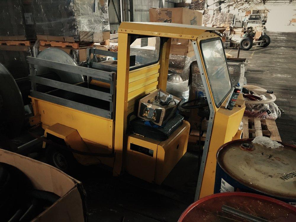 MugUp Cart in storage at the NN Cannery in South Naknek, Alaska.